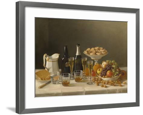 Wine, Cheese, and Fruit, 1857-John F^ Francis-Framed Art Print
