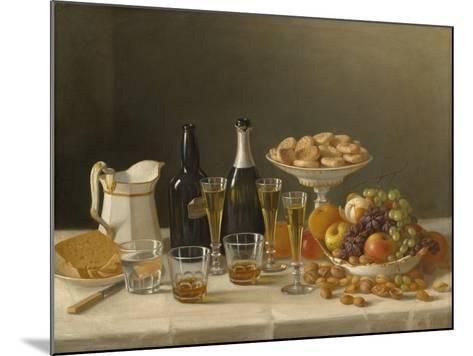 Wine, Cheese, and Fruit, 1857-John F^ Francis-Mounted Giclee Print
