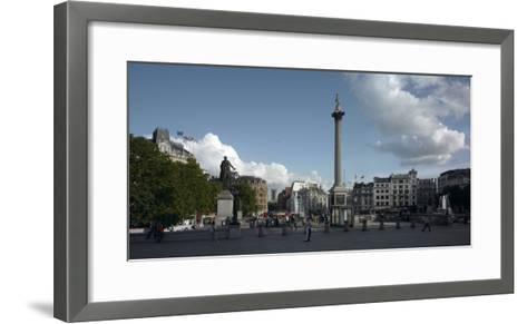 Trafalgar Square Panorama, Westminster, London-Richard Bryant-Framed Art Print