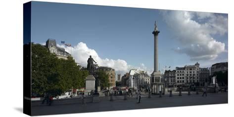 Trafalgar Square Panorama, Westminster, London-Richard Bryant-Stretched Canvas Print