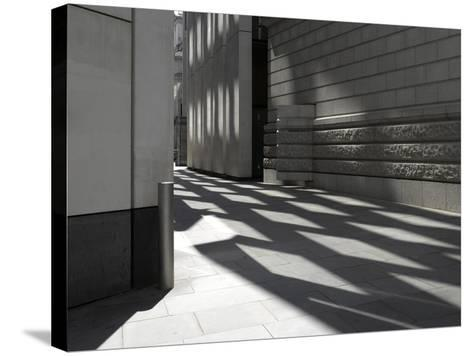 Reflections on Pavement, City of London, London-Richard Bryant-Stretched Canvas Print