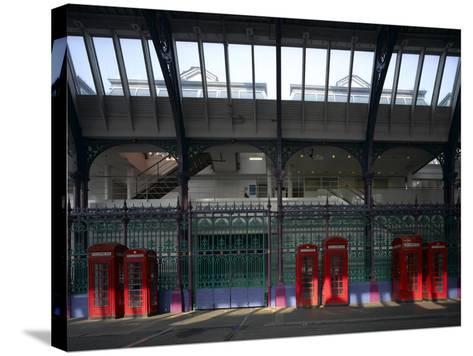 Red Telephone Boxes, Smithfield Market, Smithfield, London-Richard Bryant-Stretched Canvas Print