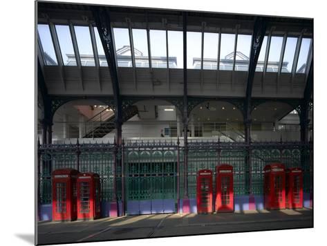 Red Telephone Boxes, Smithfield Market, Smithfield, London-Richard Bryant-Mounted Photographic Print