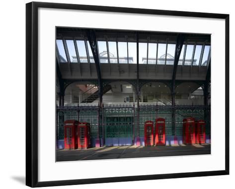 Red Telephone Boxes, Smithfield Market, Smithfield, London-Richard Bryant-Framed Art Print