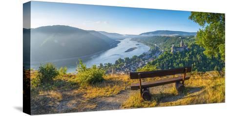 Germany, Rhineland Palatinate, Bacharach and Burg Stahleck (Stahleck Castle), River Rhine-Alan Copson-Stretched Canvas Print