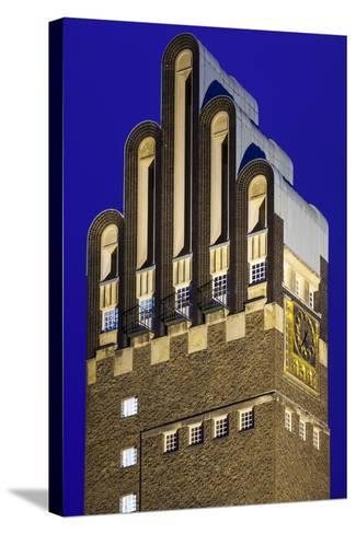 Germany, Hesse, Darmstadt, Mathildenhohe Kunstlerkolonie Park, Wedding Tower-Walter Bibikow-Stretched Canvas Print