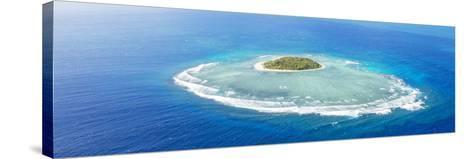 Aerial View of Tavarua, Heart Shaped Island, Mamanucas Islands, Fiji-Matteo Colombo-Stretched Canvas Print