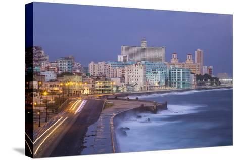 The Malecon Looking Towards Vedado, Havana, Cuba-Jon Arnold-Stretched Canvas Print