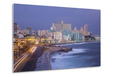 The Malecon Looking Towards Vedado, Havana, Cuba-Jon Arnold-Metal Print