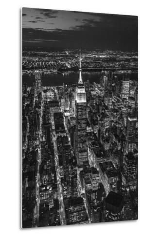 Empire State Building and Manhattan, New York City, New York, USA-Jon Arnold-Metal Print