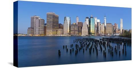 Usa, New York City, Downtown Financial District of Manhattan-Gavin Hellier-Stretched Canvas Print