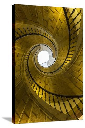 Triple Spiral Staircase of Floating Stairs. Convent of Santo Domingo De Bonaval-Peter Adams-Stretched Canvas Print