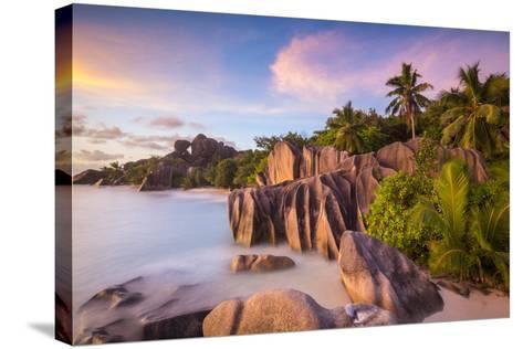 Anse Source D'Argent Beach, La Digue, Seychelles-Jon Arnold-Stretched Canvas Print