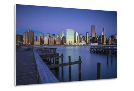 Chrysler and Un Buildings and Midtown Manhattan Skyline from Queens, New York City, New York, USA-Jon Arnold-Metal Print