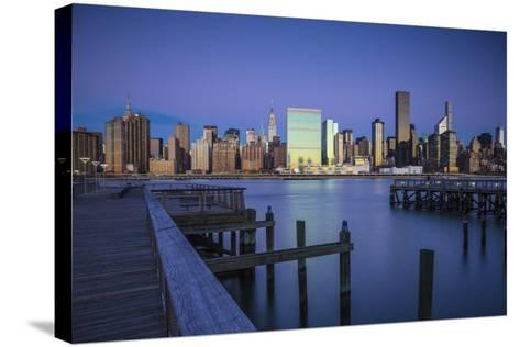 Chrysler and Un Buildings and Midtown Manhattan Skyline from Queens, New York City, New York, USA-Jon Arnold-Stretched Canvas Print