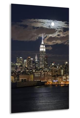Manhattan, Moonrise over the Empire State Building-Gavin Hellier-Metal Print