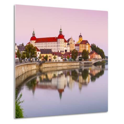 Neuburg Castle Reflected in the River Danube at Dawn, Neuburg, Neuburg-Schrobenhausen-Doug Pearson-Metal Print