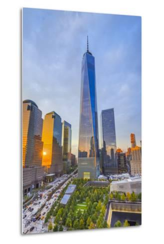 Usa, New York, Manhattan, Downtown, World Trade Center, Freedom Tower or One World Trade Center-Alan Copson-Metal Print
