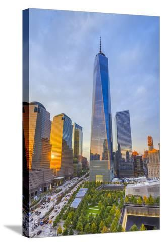 Usa, New York, Manhattan, Downtown, World Trade Center, Freedom Tower or One World Trade Center-Alan Copson-Stretched Canvas Print