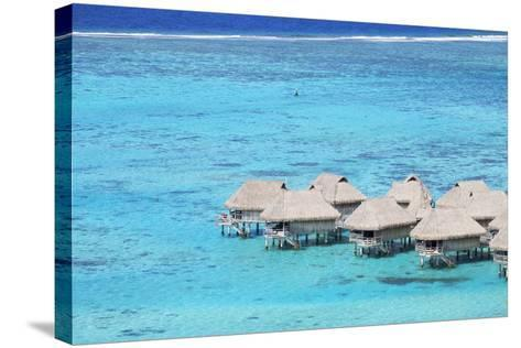 Overwater Bungalows of Sofitel Hotel, Moorea, Society Islands, French Polynesia (Pr)-Ian Trower-Stretched Canvas Print