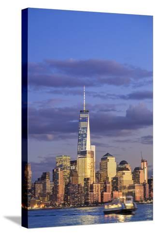Usa, New York, New York City, Lower Manhattan Skyline-Michele Falzone-Stretched Canvas Print