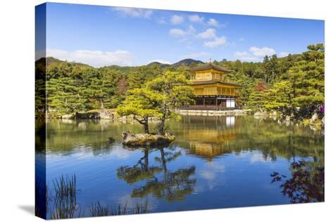 Japan, Kyoto, Kinkaku-Ji, -The Golden Pavilion Officially Named Rokuon-Ji-Jane Sweeney-Stretched Canvas Print