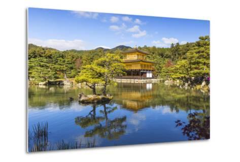 Japan, Kyoto, Kinkaku-Ji, -The Golden Pavilion Officially Named Rokuon-Ji-Jane Sweeney-Metal Print