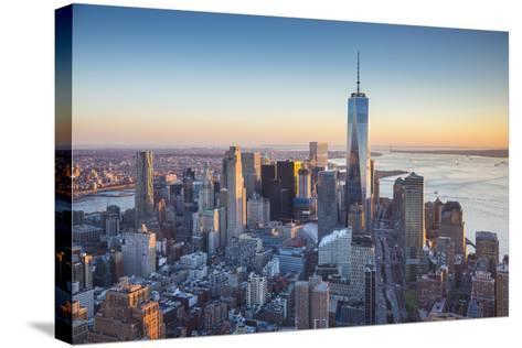 One World Trade Center and Lower Manhattan, New York City, New York, USA-Jon Arnold-Stretched Canvas Print