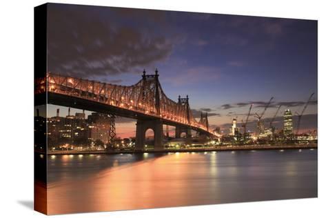 Usa, New York, New York City, Manhattan, Ed Koch Queensboro Bridge-Michele Falzone-Stretched Canvas Print