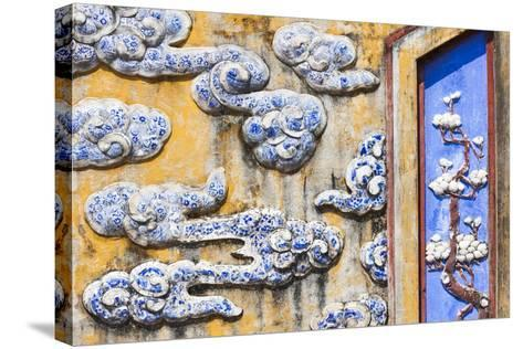 Vietnam, Hue, Hue Imperial City, Dien Tho Residence, Building Detail-Walter Bibikow-Stretched Canvas Print