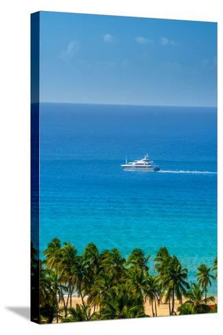 Caribbean, British Virgin Islands, Tortola, Lambert Bay, Lambert Bay Beach-Alan Copson-Stretched Canvas Print