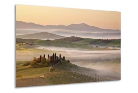 Belvedere Farm at Sunsise, Orcia Valley,Tuscany,Italy.-ClickAlps-Metal Print