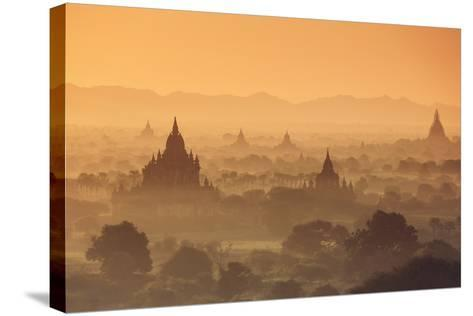 Myanmar (Burma), Temples of Bagan (Unesco World Heritage Site)-Michele Falzone-Stretched Canvas Print
