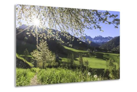 St. Magdalena and the Odle Group. Funes Valley South Tyrol Dolomites Italy Europe-ClickAlps-Metal Print