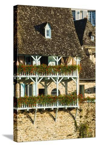 Typical Architecture in Argentat, Limousin, France-Nadia Isakova-Stretched Canvas Print