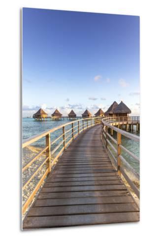 Water Bungalows of Pearl Beach Resort, Rangiroa Atoll, French Polynesia-Matteo Colombo-Metal Print