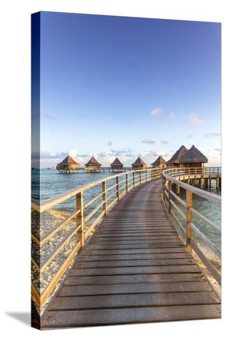 Water Bungalows of Pearl Beach Resort, Rangiroa Atoll, French Polynesia-Matteo Colombo-Stretched Canvas Print