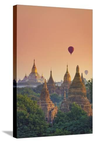 Myanmar (Burma), Temples of Bagan (Unesco World Heritage Site), Ananda Temple-Michele Falzone-Stretched Canvas Print