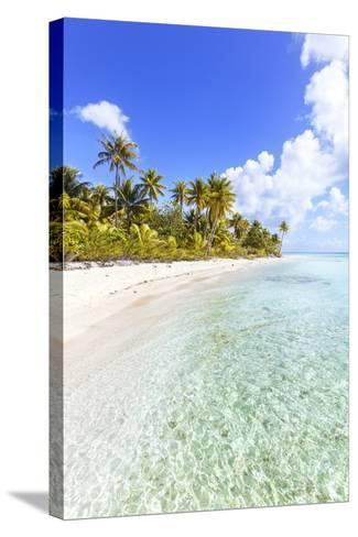 Sable Rose (Pink Sand) Beach in the Lagoon of Tikehau, French Polynesia-Matteo Colombo-Stretched Canvas Print