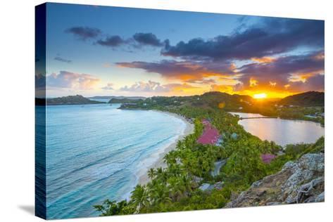 Caribbean, Antigua, Galley Bay, Galley Bay Beach, Sunrise-Alan Copson-Stretched Canvas Print