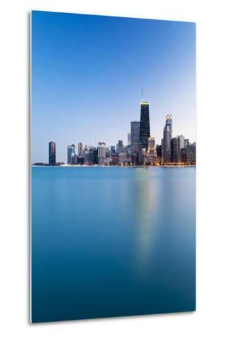Usa, Illinois, Chicago. the City Skyline from North Avenue Beach.-Nick Ledger-Metal Print