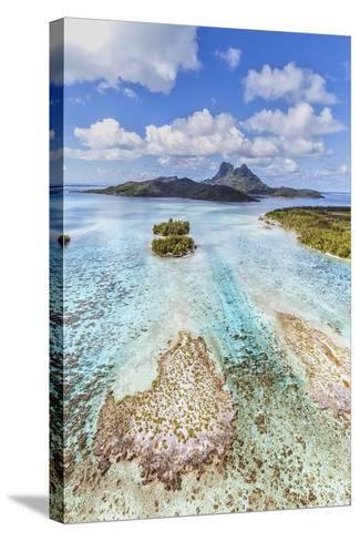 Aerial View of Bora Bora Island, French Polynesia-Matteo Colombo-Stretched Canvas Print