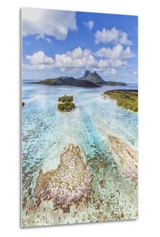 Aerial View of Bora Bora Island, French Polynesia-Matteo Colombo-Metal Print