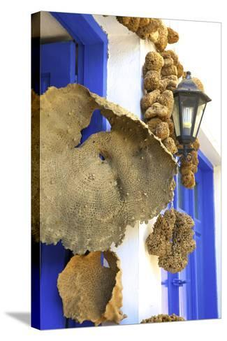 Shop Selling Sponges a Tradition of Kalymnos, Kalymnos, Dodecanese, Greek Islands, Greece, Europe-Neil Farrin-Stretched Canvas Print