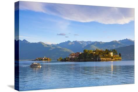 The Idyllic Isola Dei Pescatori and Isola Bella, Borromean Islands, Lake Maggiore, Piedmont, Italy-Doug Pearson-Stretched Canvas Print