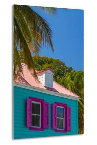 Caribbean, British Virgin Islands, Tortola, Sopers Hole, Traditional Shuttered Windows-Alan Copson-Metal Print