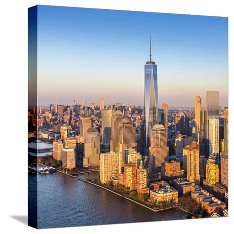 One World Trade Center and Lower Manhattan, New York City, New York, USA-Jon Arnold-Stretched Canvas Print