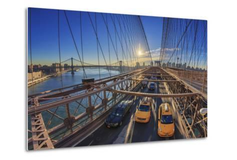 Usa, New York City, Brooklyn Bridge-Michele Falzone-Metal Print