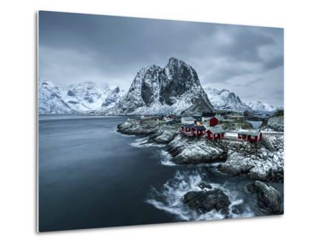 Hamnoy - Lofoten Islands, Norway Coastal Rocks and Mountains.-ClickAlps-Metal Print
