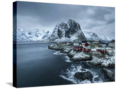 Hamnoy - Lofoten Islands, Norway Coastal Rocks and Mountains.-ClickAlps-Stretched Canvas Print